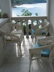 Silo Krk Croatia Apartment-1 terrace with sea view