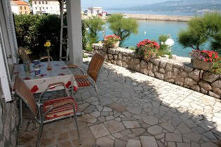 Apartment island Krk sea view terrace internet barbecue dogs